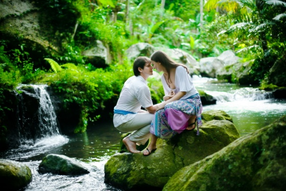 Romantic photo in Bali
