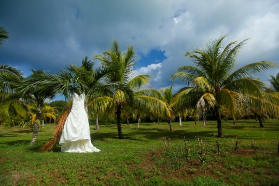 Wedding dress in Cuba