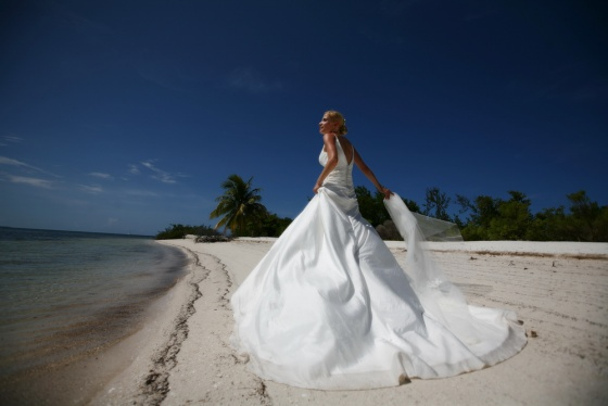 Bride on a beach