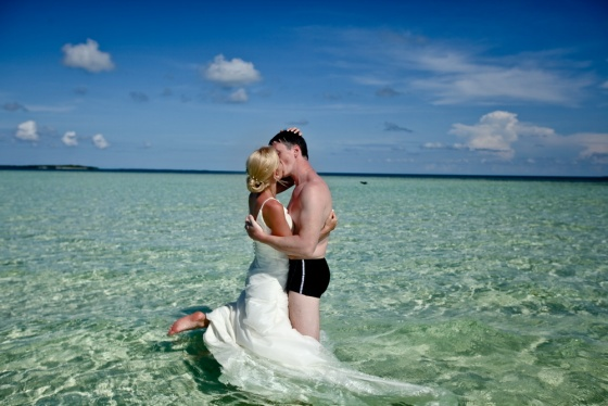 Wedding in the sea