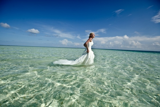 Wedding in the ocean