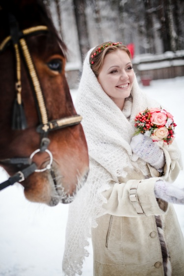 Winter wedding day