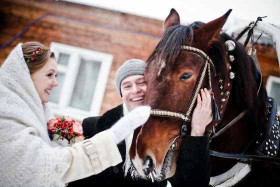 Winter wedding in Novosibirsk
