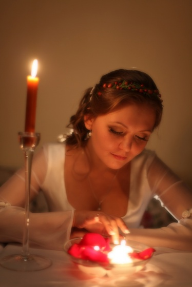 Portrit with a candles