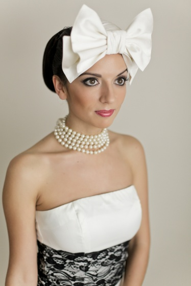 Bridal image with a bow