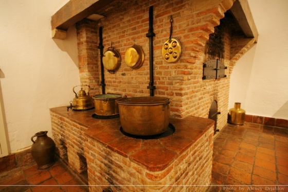 Iron oven in the museum.