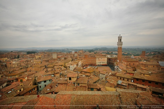 Panoramic view of Siena. Italy.