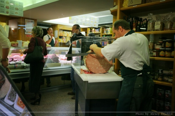 Butcher shop. Siena. Italy.