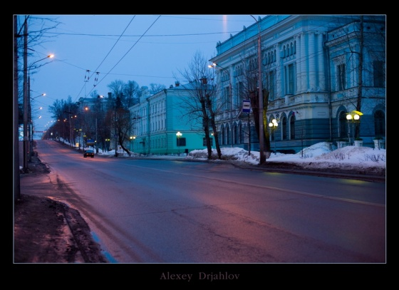 Tomsk photos. Early morning in Tomsk
