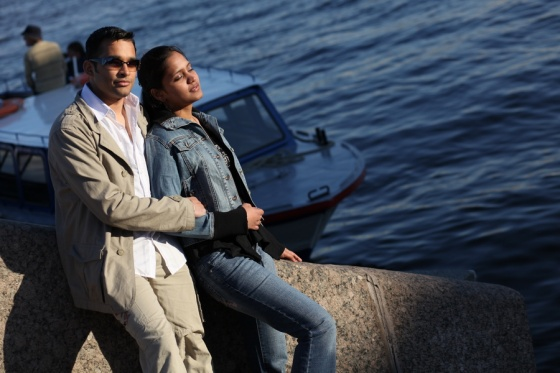 E-session with indian colour in St. Petersburg