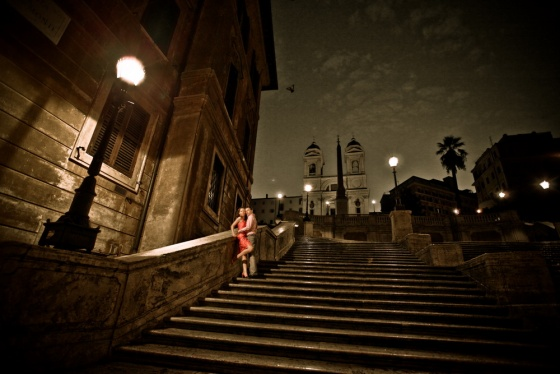 Wedding photo Roma, Spanish stairs