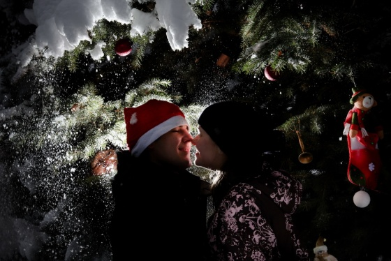 Christmas story, love story photosession