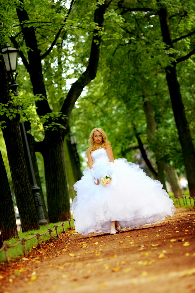 Wedding photosession in autumn