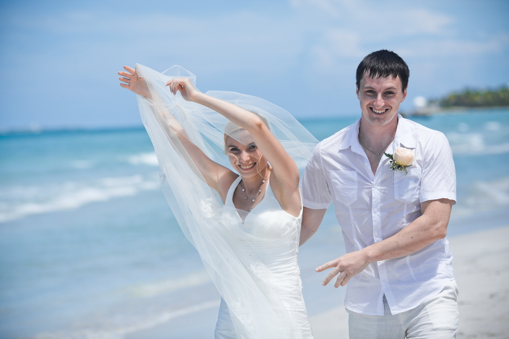 Wedding photo in Cuba