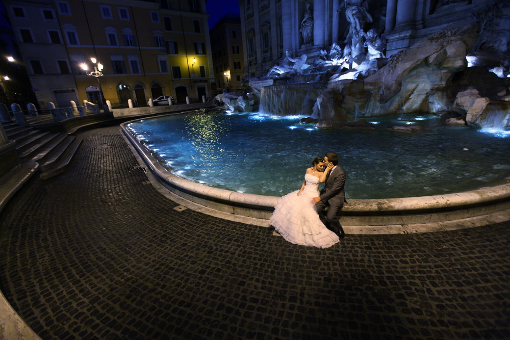 Wedding photo. Trevi. Italy
