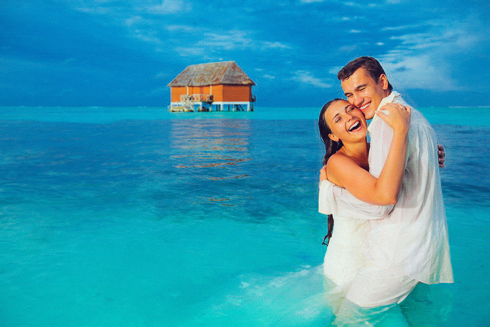 Wedding photographer on Maldives